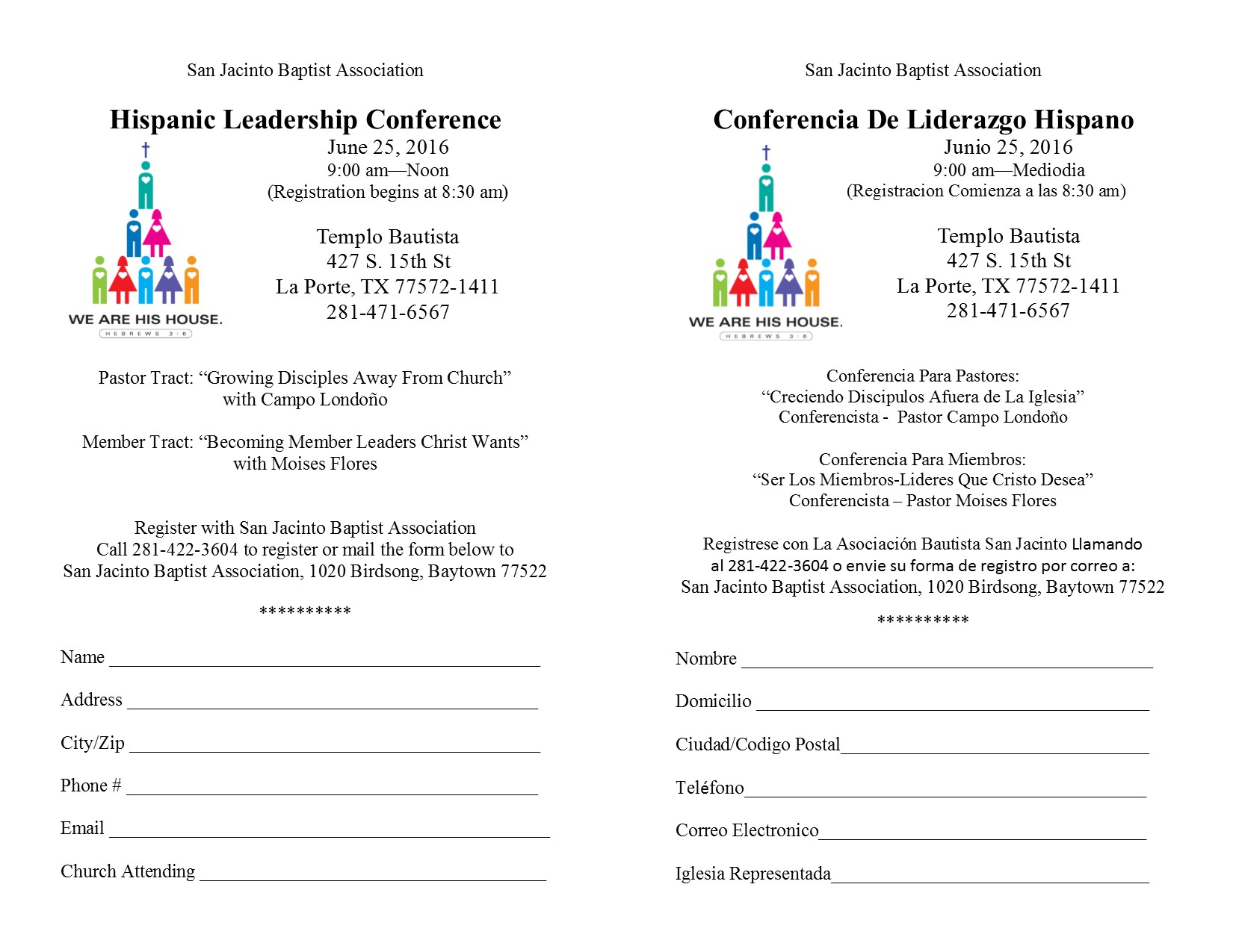 Hispanic Leadership Conference June 25th